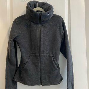 Lululemon Peplum Hoodie Jacket Charcoal Gray